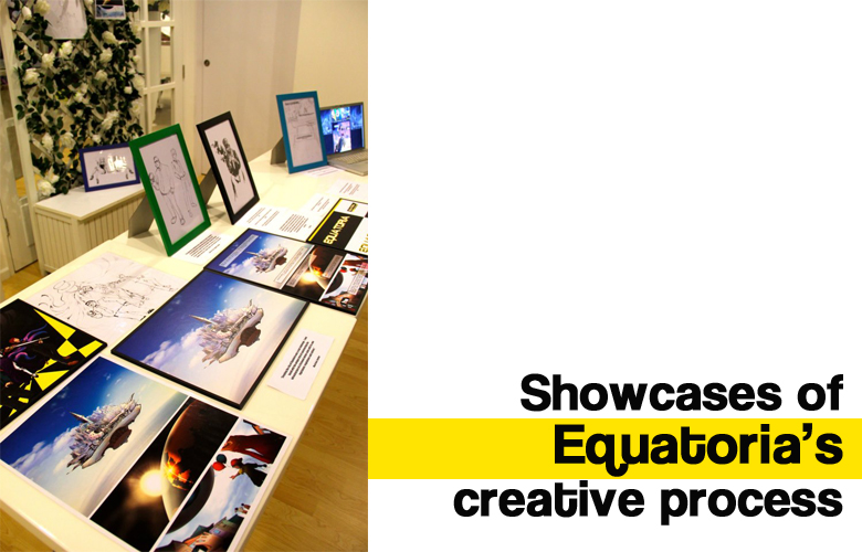 Showcases of Equatoria's creative process